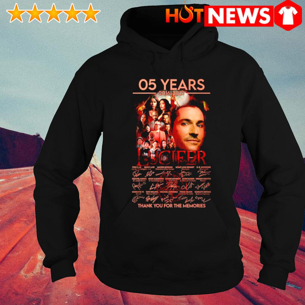 05 years of Lucifer 2016 2021 thank you for the memories s hoodie