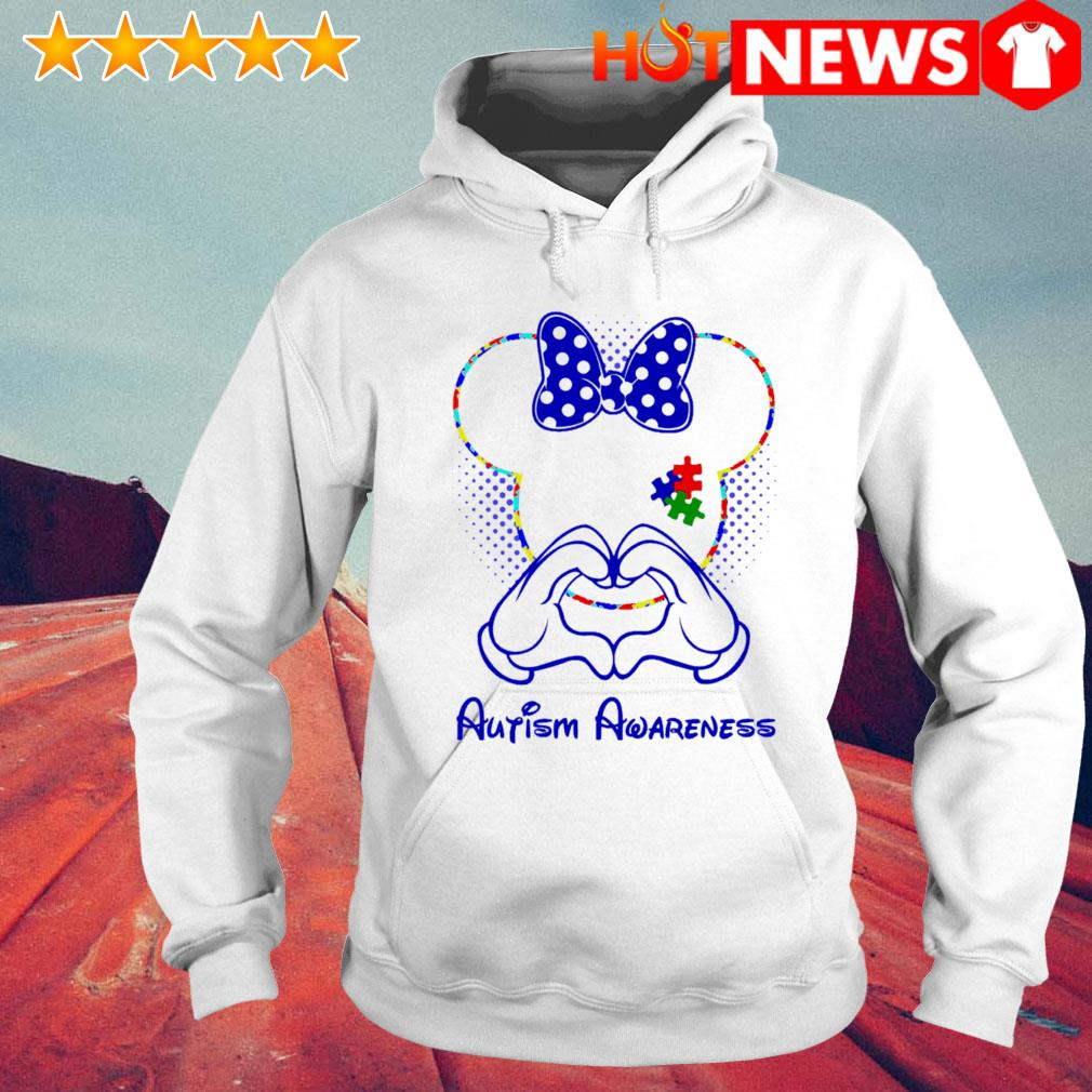 Minnie mouse love Autism Awareness s 6 HNT Hoodie White