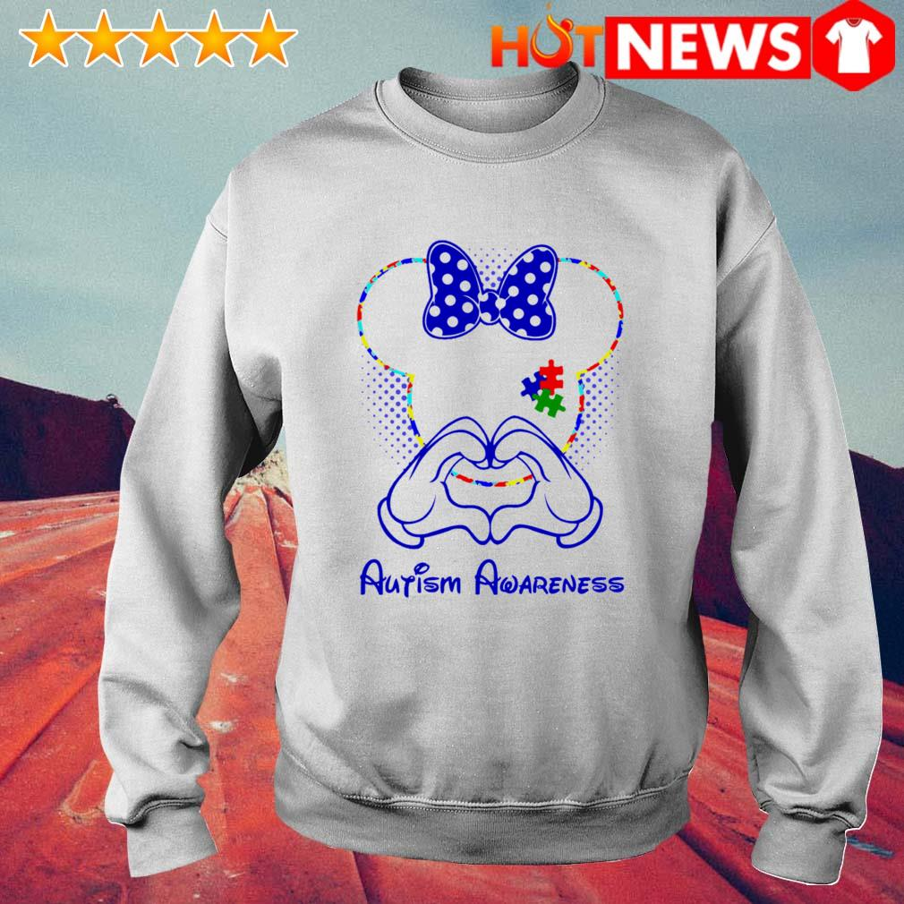Minnie mouse love Autism Awareness s 6 HNT Sweat White