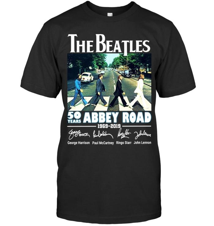 Official The Beatles 50 Years Abbey Road 1969 2019 Signature Shirt