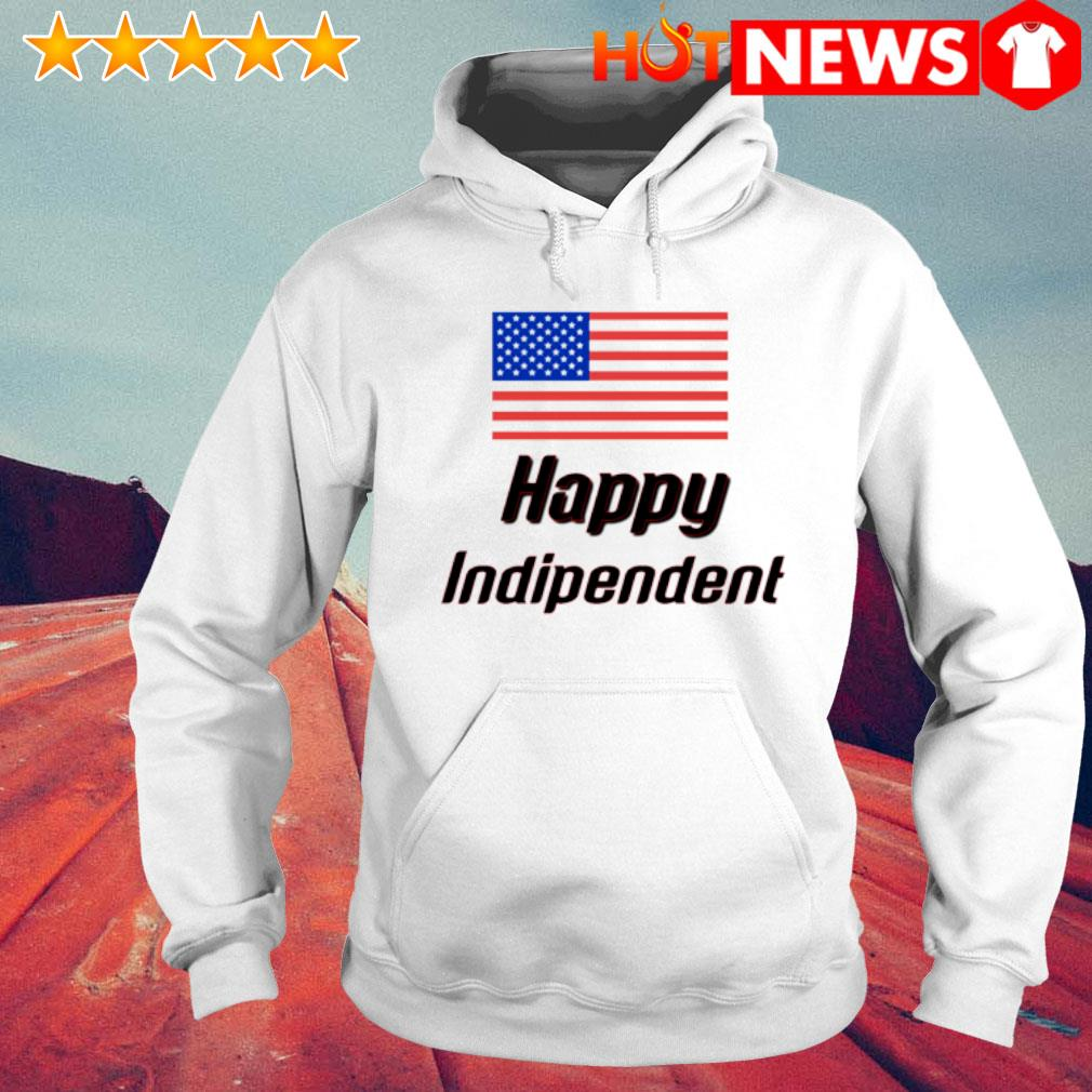 USA flag 4th July Independence Day s 6 HNT Hoodie White