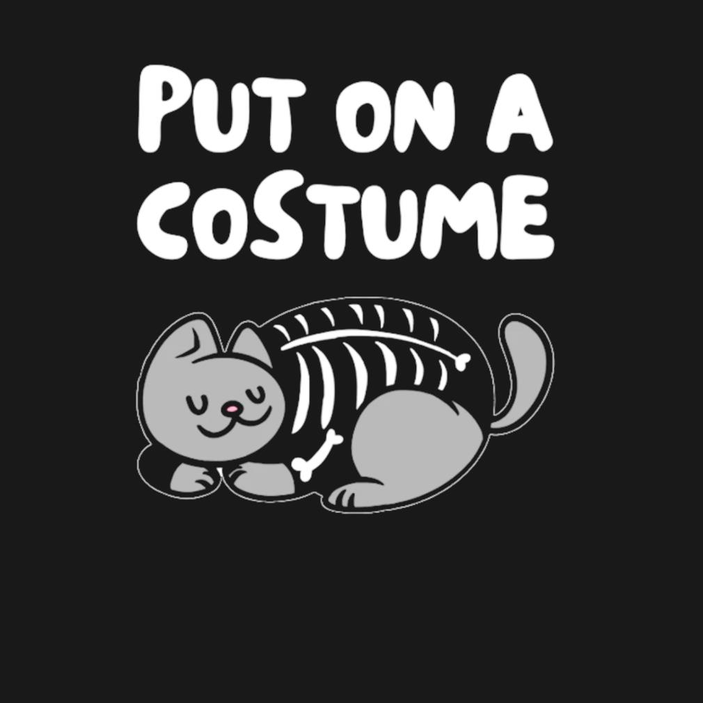 Cat Skeleton Costume s t-shirt