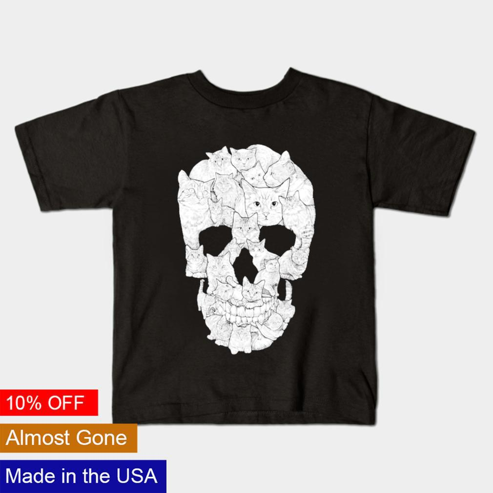 Cat Skull Halloween shirt