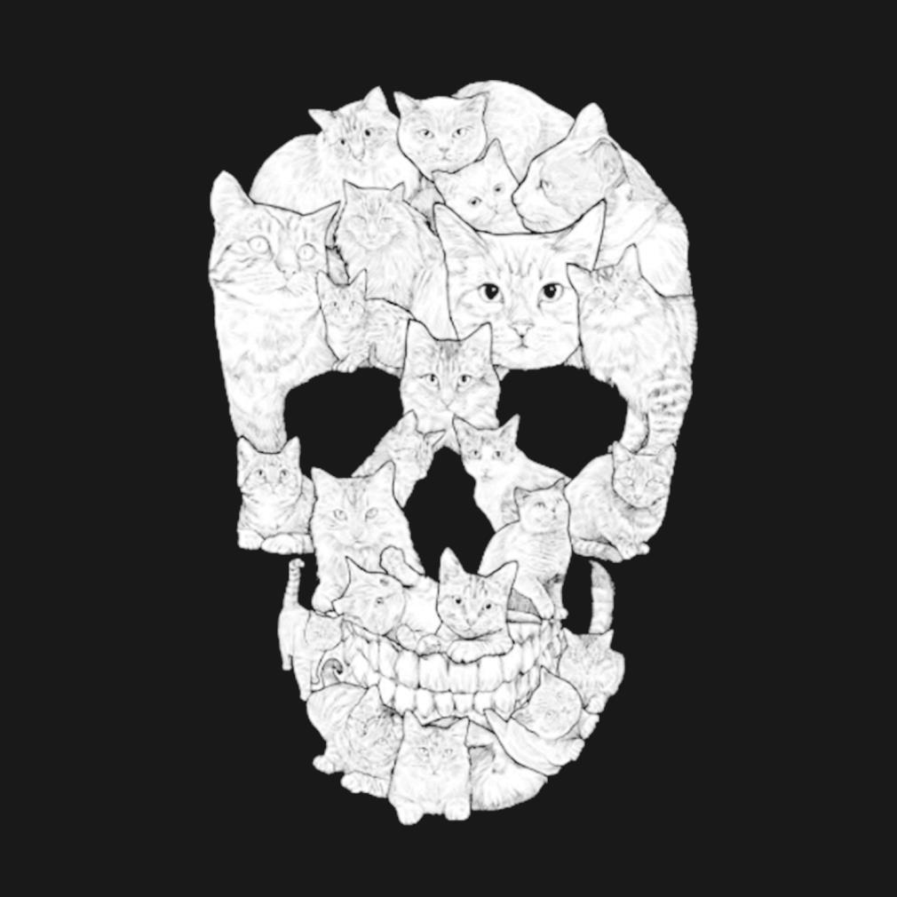 Cat Skull Halloween s t-shirt