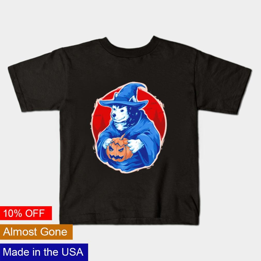 Husky Witch Halloween shirt