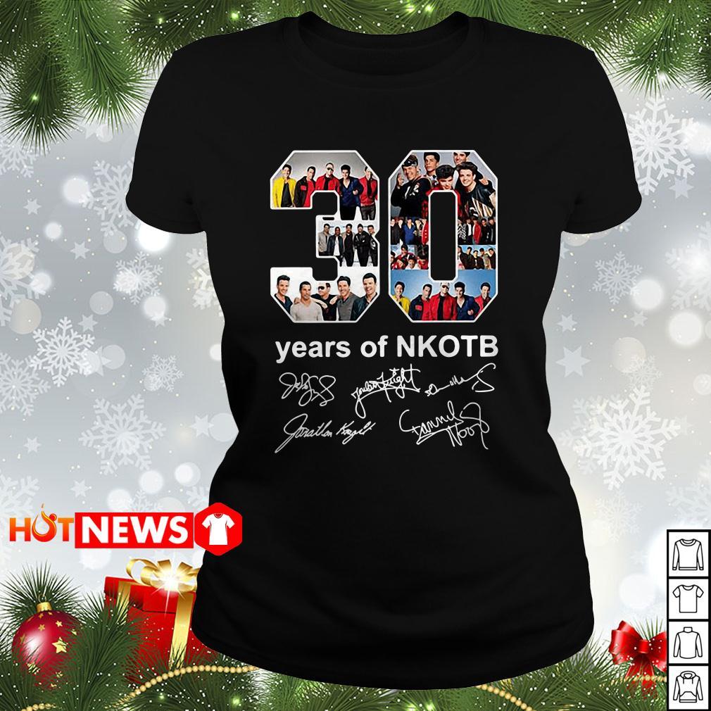30 Years of NKOTB signature Ladies tee
