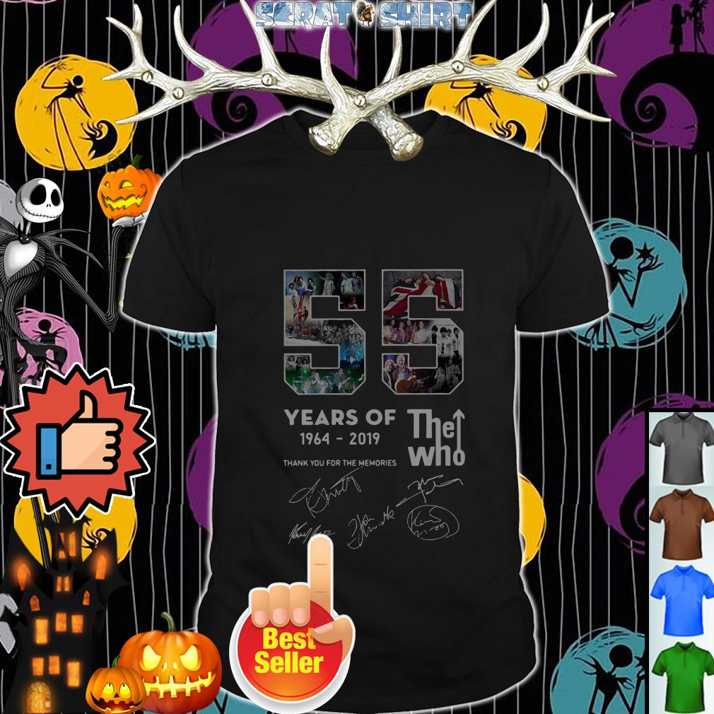 Official 55 years of The Who 1964-2019 thank you for the memories shirt