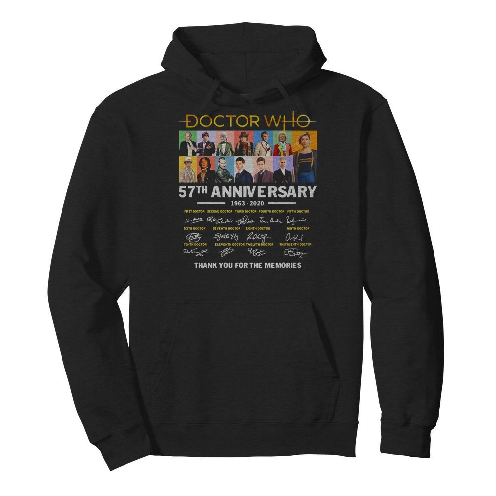 Official Doctor Who 57th Anniversary Signature Thank You For The Memories Hoodie