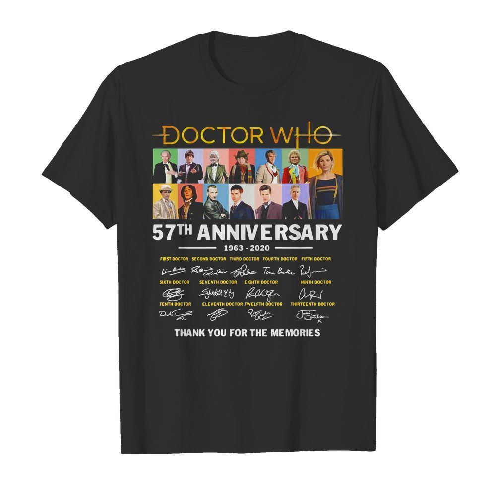 Official Doctor Who 57th Anniversary Signature Thank You For The Memories Shirt