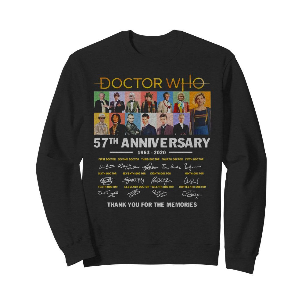 Official Doctor Who 57th Anniversary Signature Thank You For The Memories Sweater