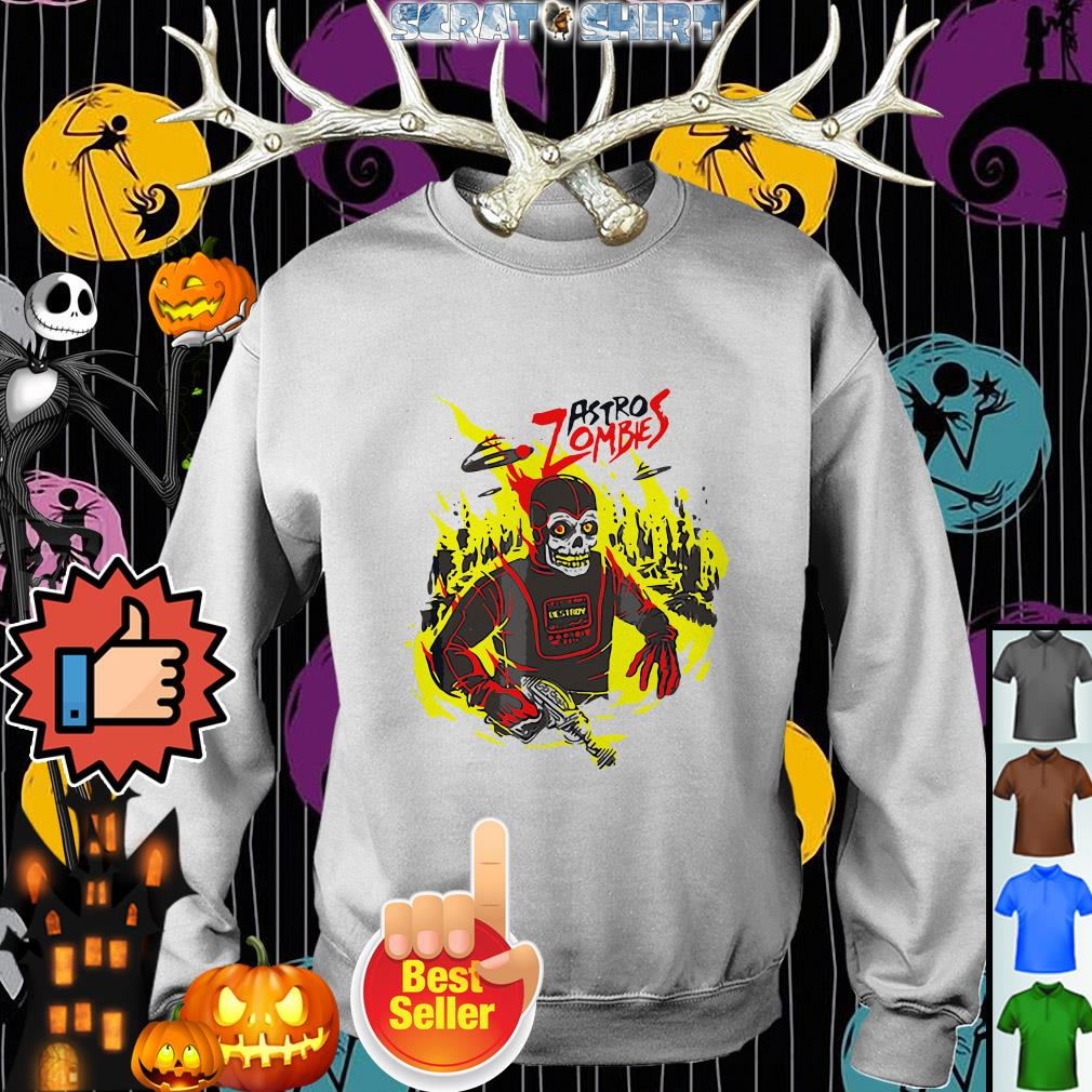 Halloween Astro Zombies Monster Sci-fi Gift Skate Sweater