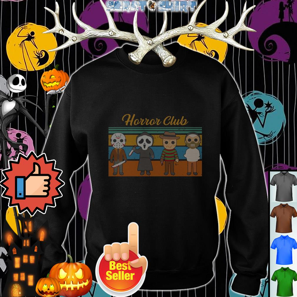 Official Halloween Horror club Horror character vintage Sweater