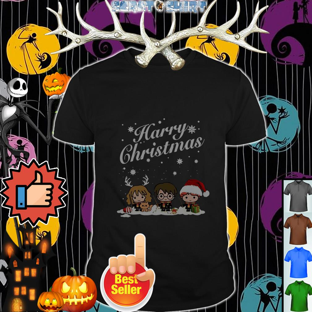 Official Harry chibi Christmas Harry Ron And Hermione ugly Guys shirt