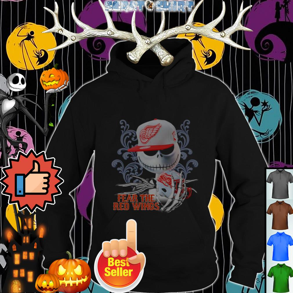 Official Jack Skellington fear the Detroit Red Wings Hoodie