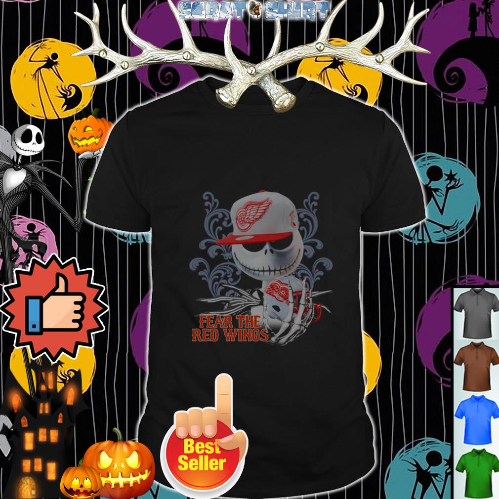 Official Jack Skellington fear the Detroit Red Wings shirt