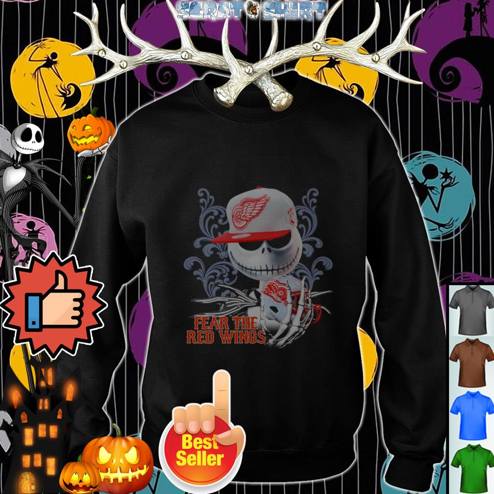 Official Jack Skellington fear the Detroit Red Wings Sweater