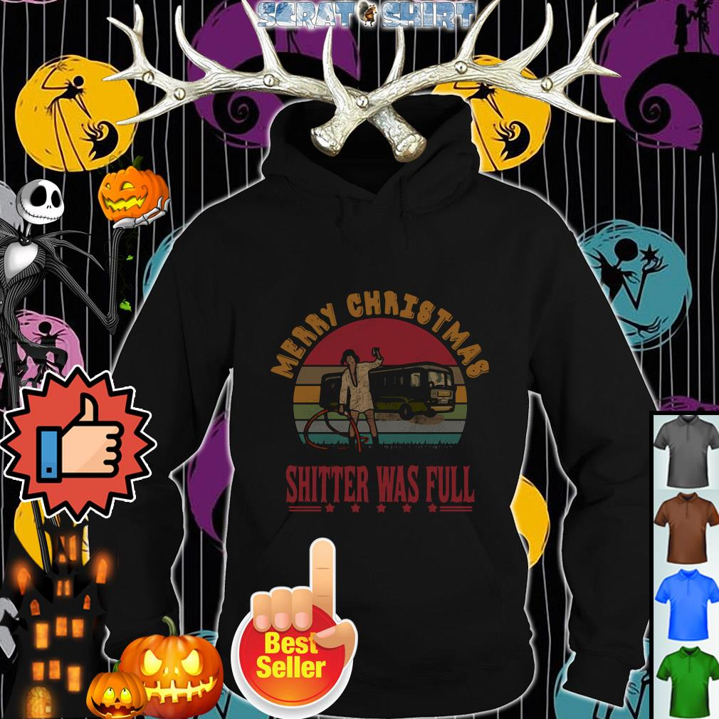 Official Merry Christmas shitter's full vintage Hoodie