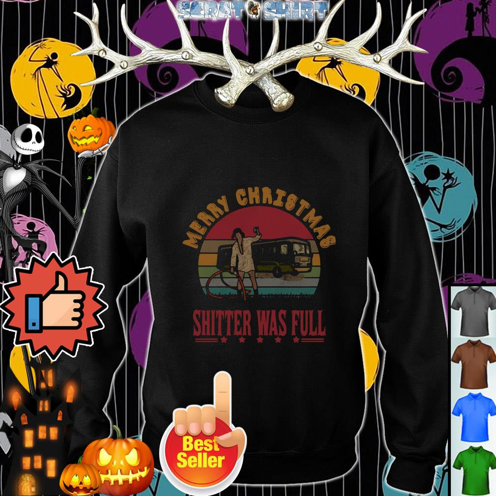 Official Merry Christmas shitter's full vintage sweater, shirt