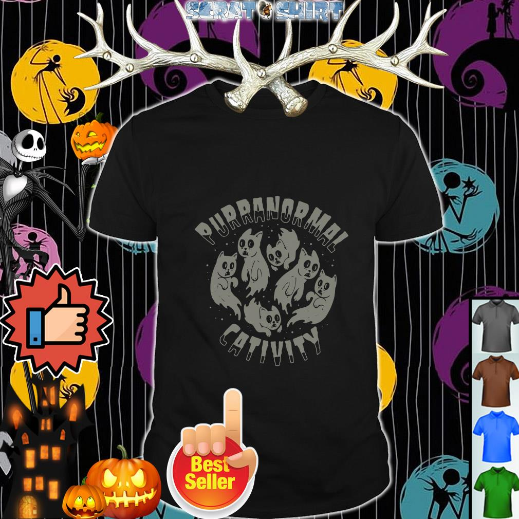 Official Purranormal Cativity scary Cats Halloween shirt