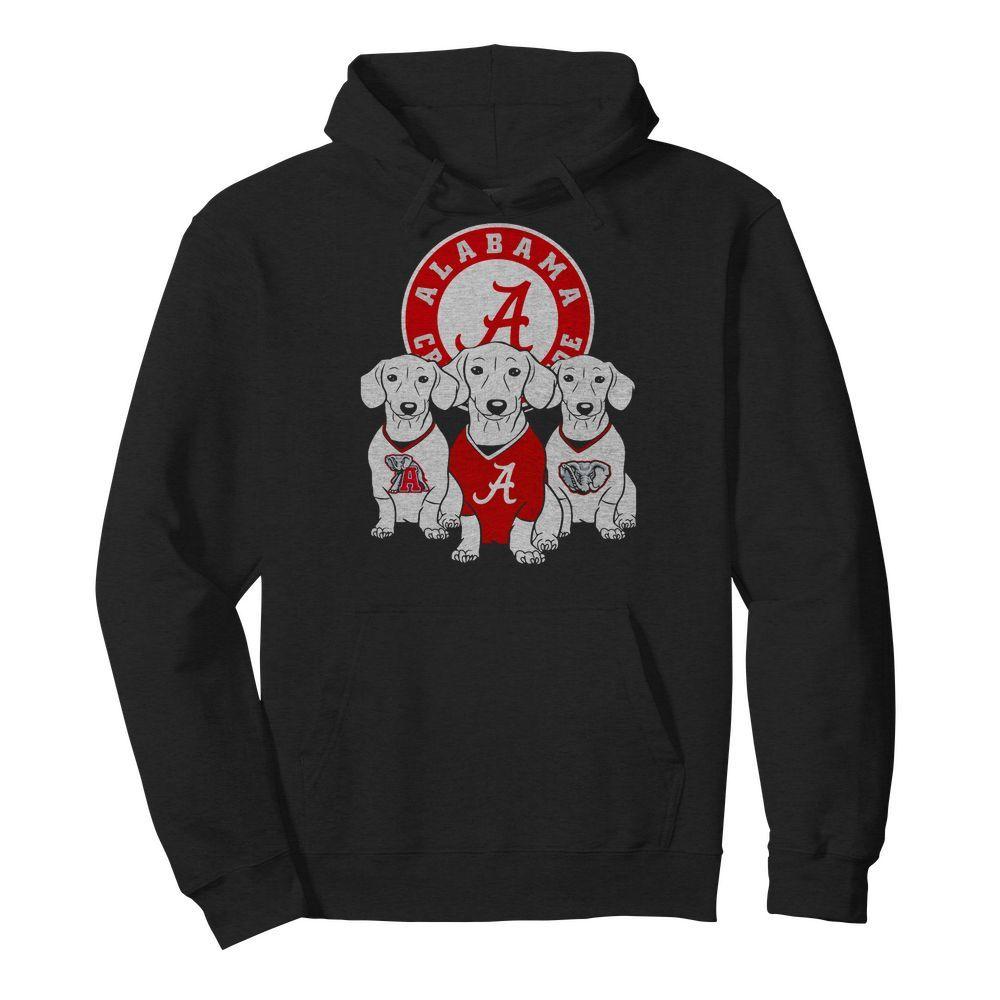Official Alabama Crimson Tide Dachshund dog Hoodie