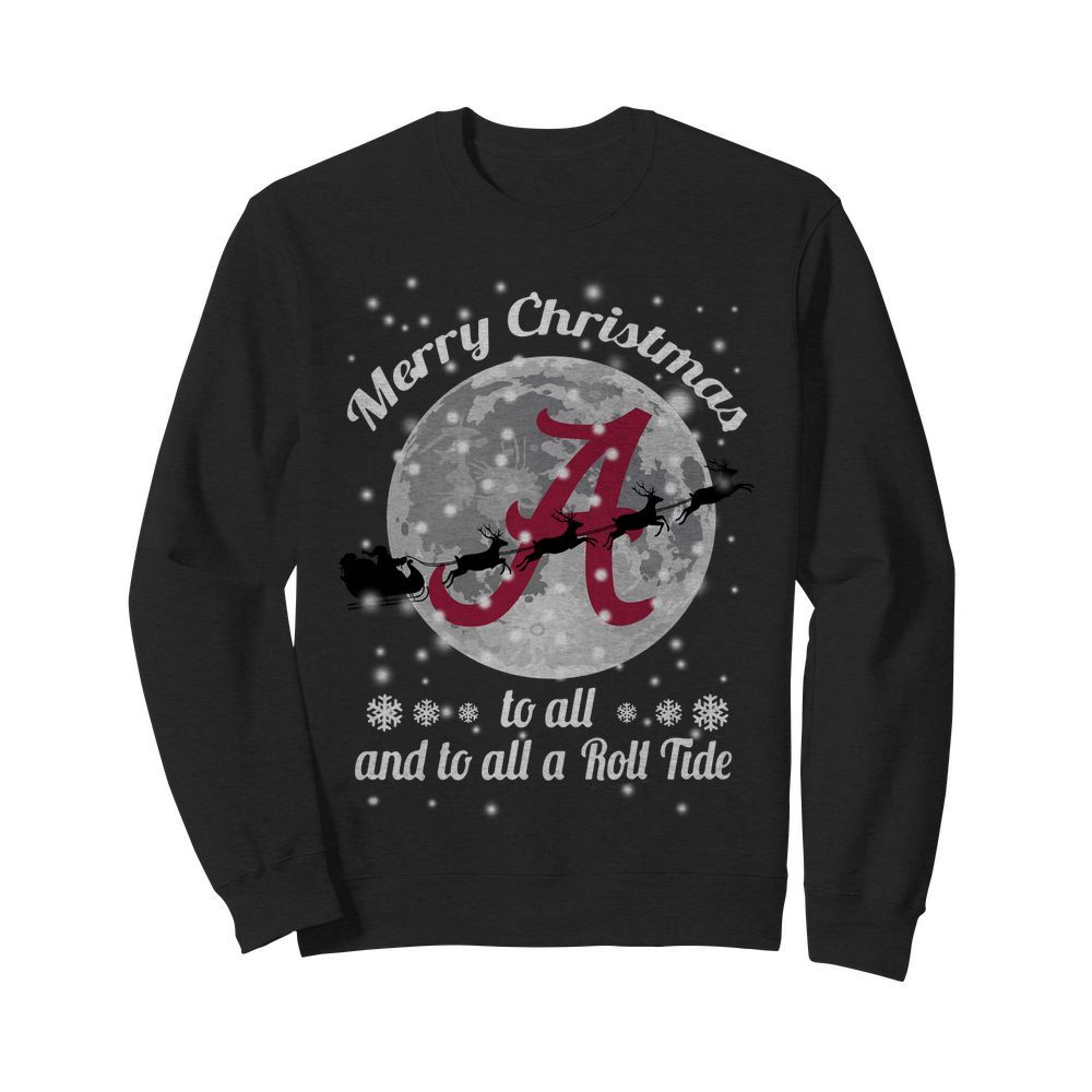 Official Alabama Crimson Tide Merry Christmas to all and to all a Roll Tide Sweater