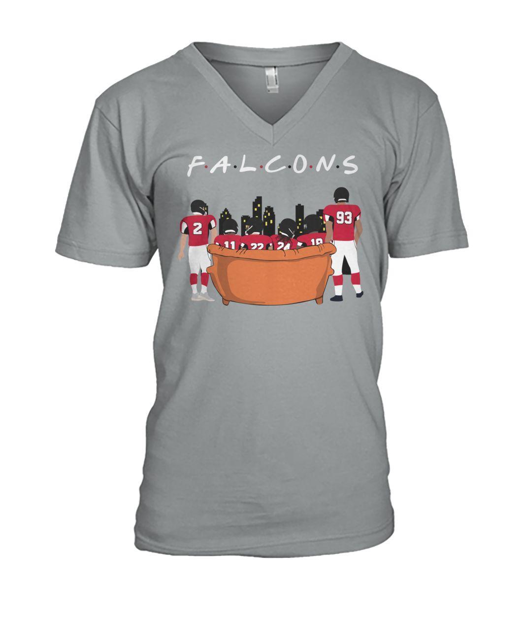 Official Atlanta Falcons Friends TV Show V-neck t-shirt
