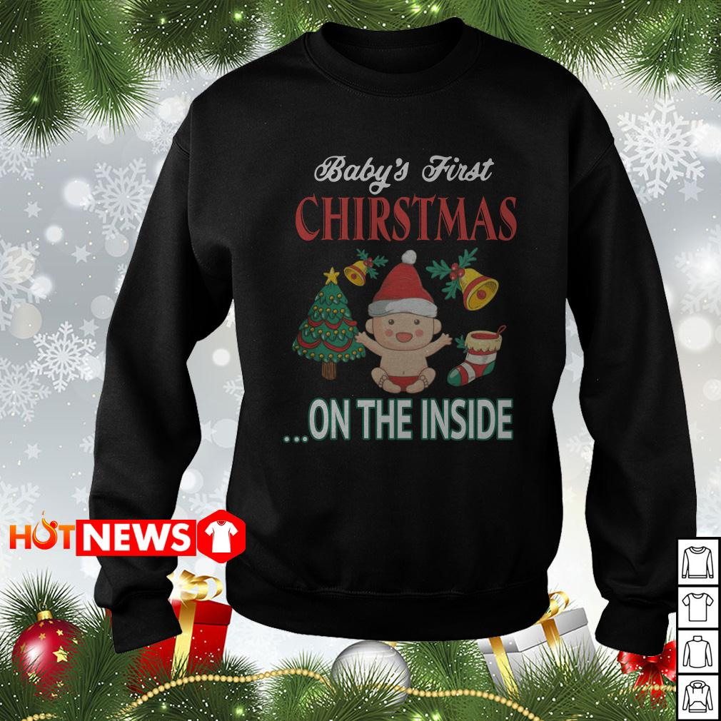 Baby's First Christmas on the inside sweater shirt