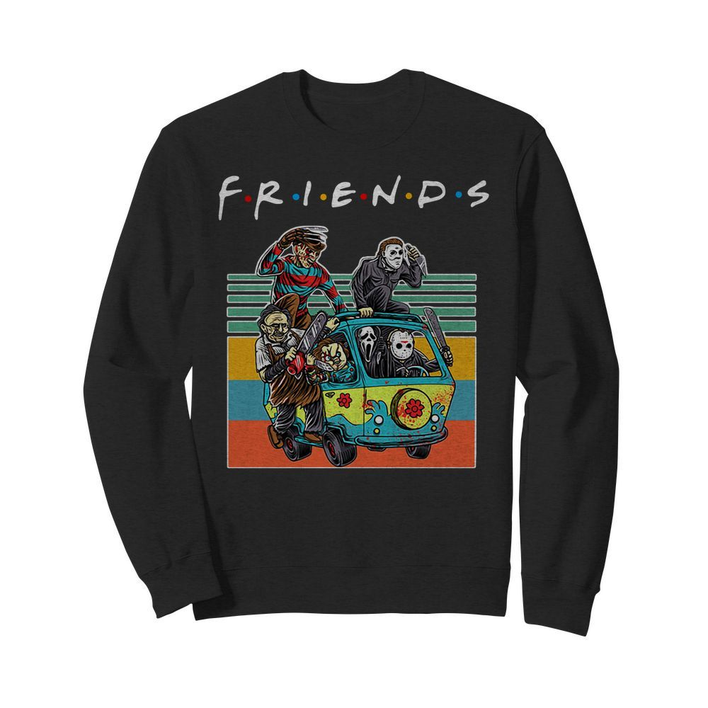 Official Friends characters Horror movies vintage Sweater