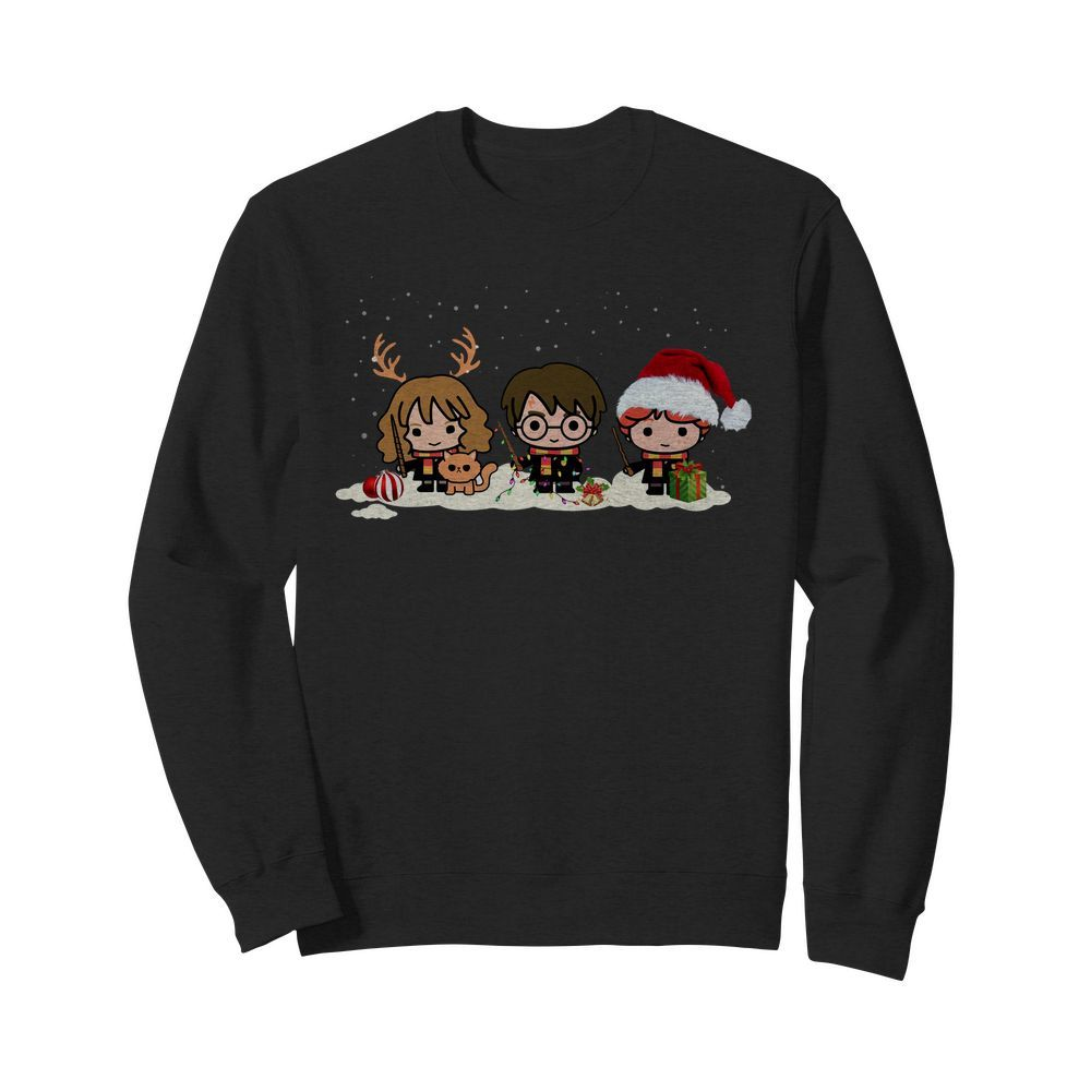Harry Potter Hermione Granger and Ron Weasley chibi Christmas Sweater
