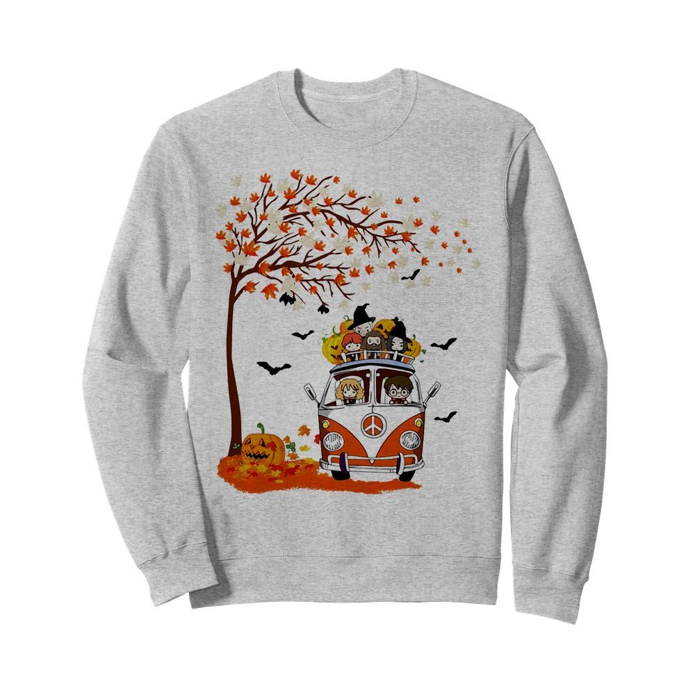 Official Harry Potter Hippie Bus Autumn Halloween Sweater