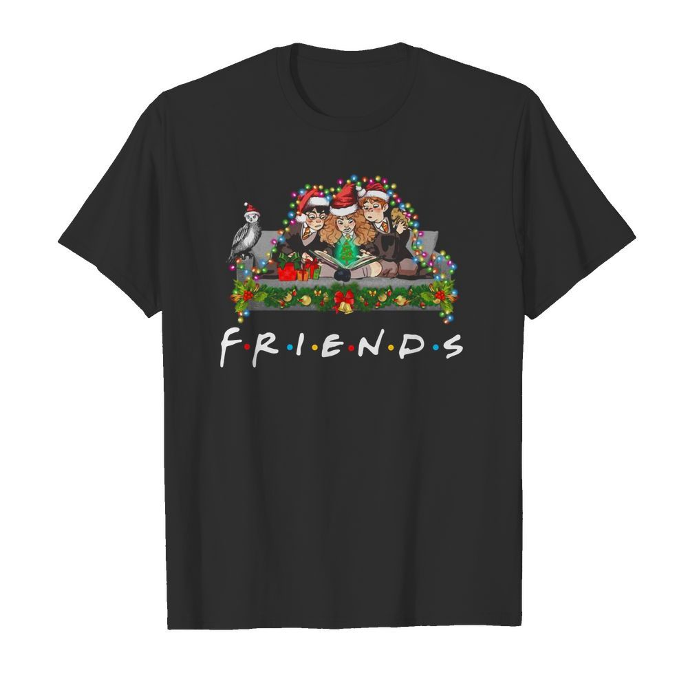 Official Harry Potter Ron And Hermione Friends Christmas Light Guys Shirt