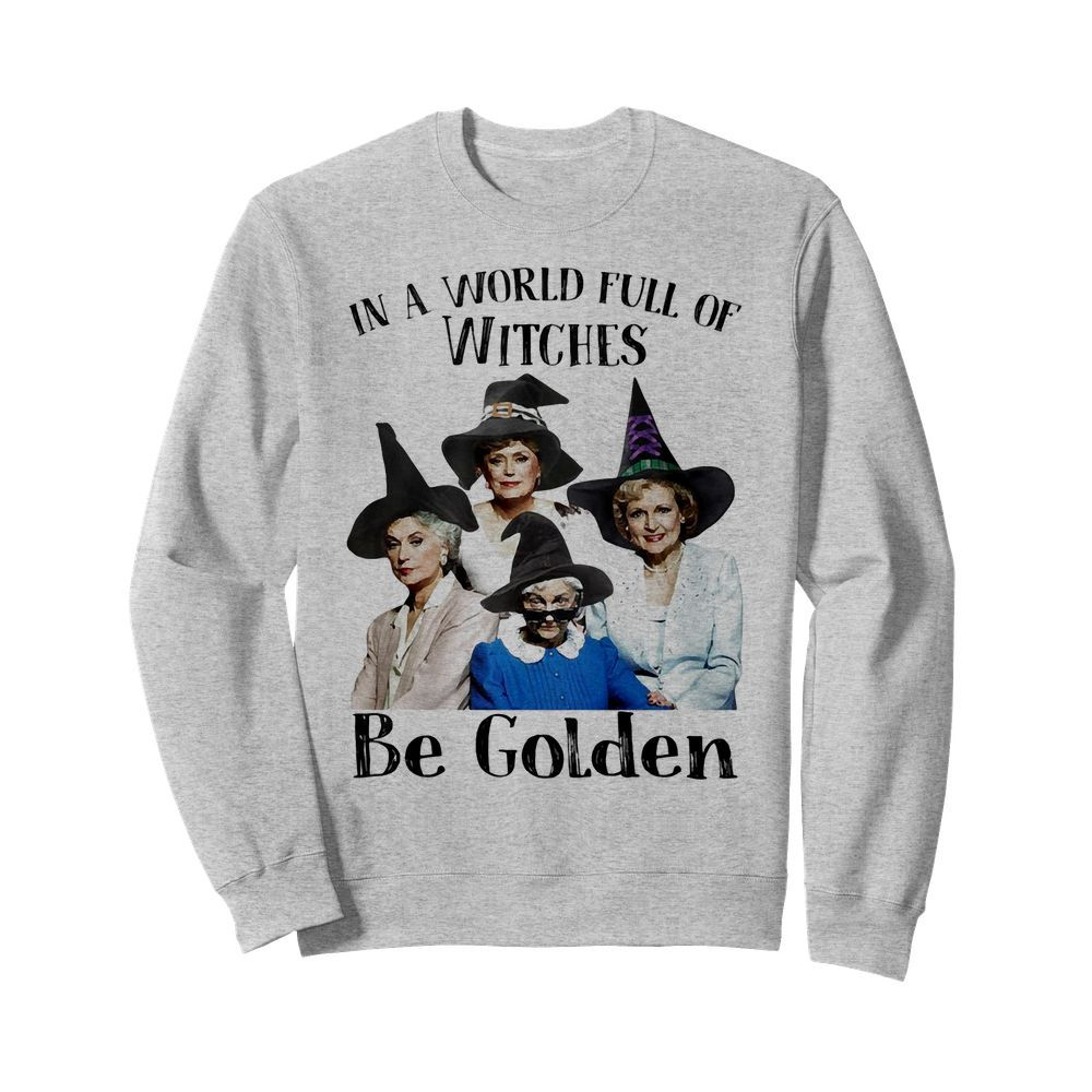 Official In a world full of witches be Golden Halloween Sweater