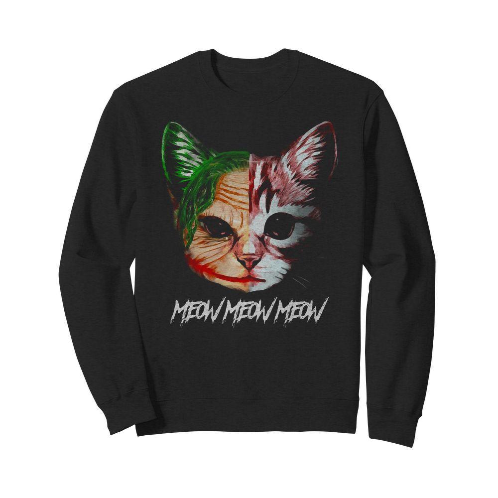 Official Joker Cat Meow Meow Meow Sweater