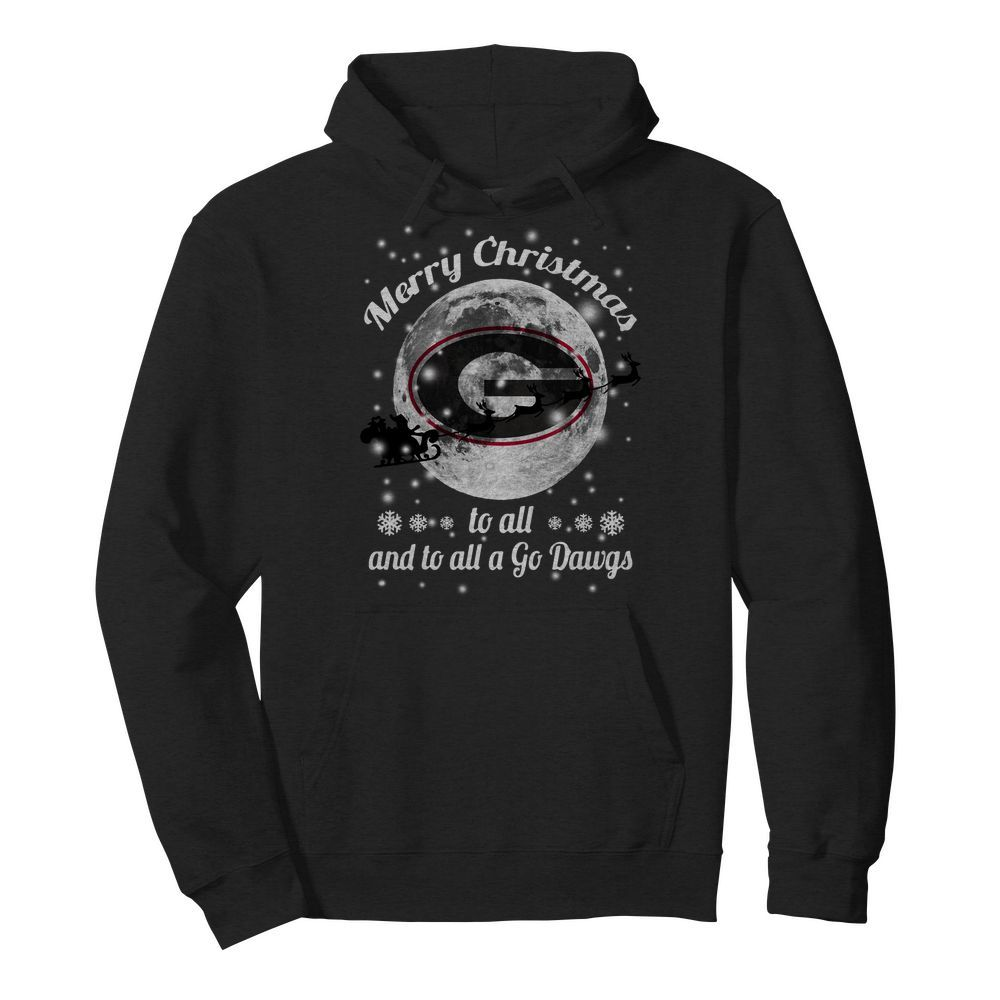 Official Merry Christmas Green Bay Packers to all and to all a go Dawgs Hoodie
