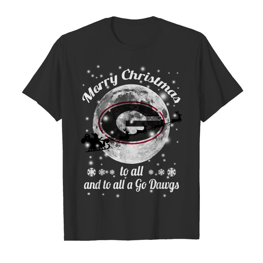 Official Merry Christmas Green Bay Packers to all and to all a go Dawgs Shirt