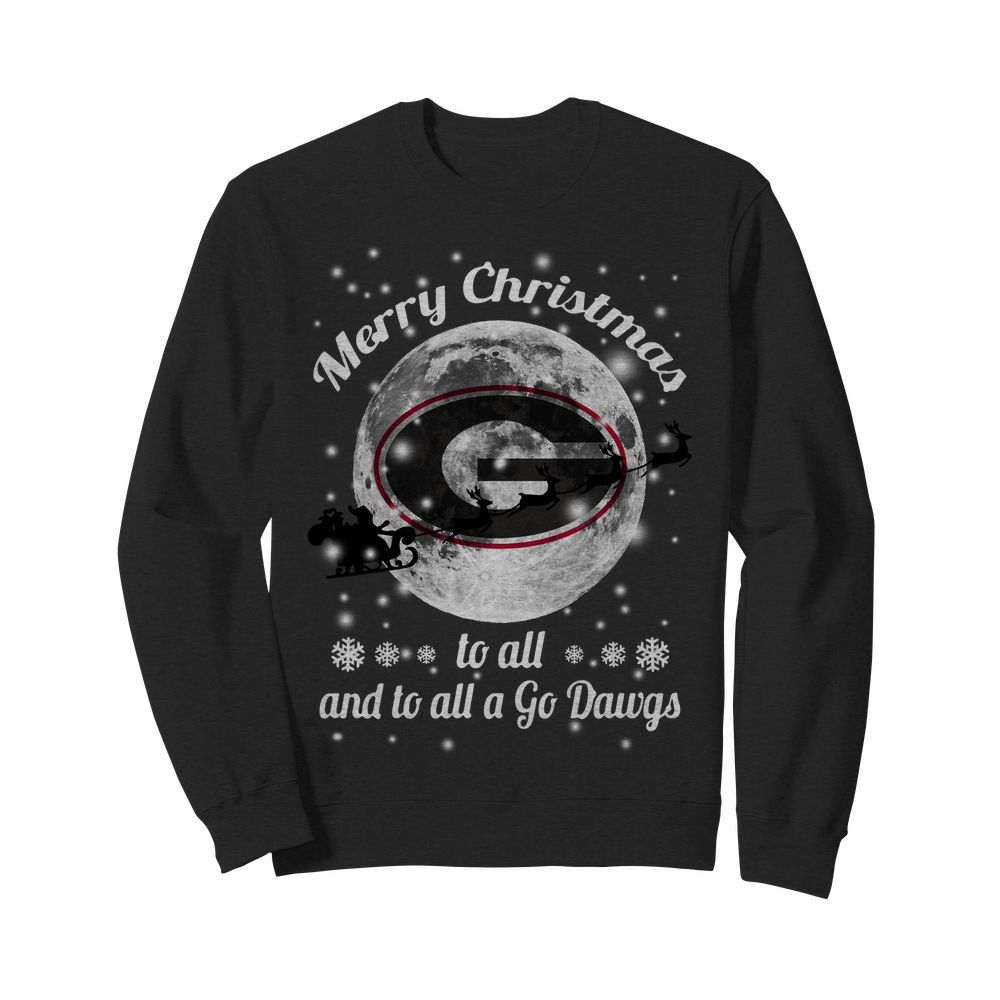 Official Merry Christmas Green Bay Packers to all and to all a go Dawgs Sweater