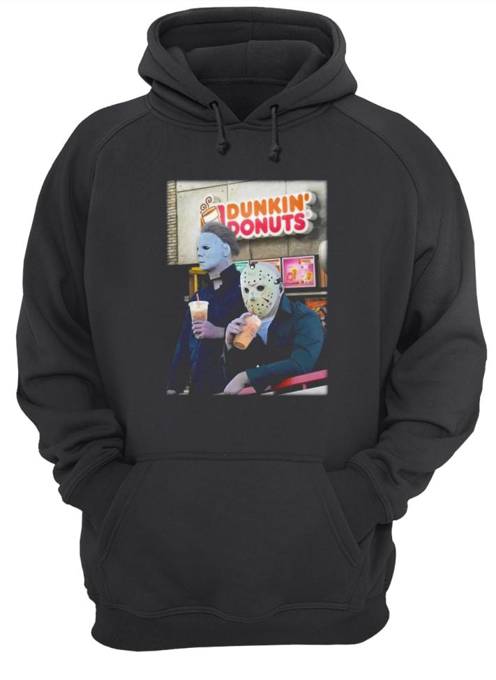 Official Michael Myers and Jason Voorhees drink Dunkin' Donuts Hoodie