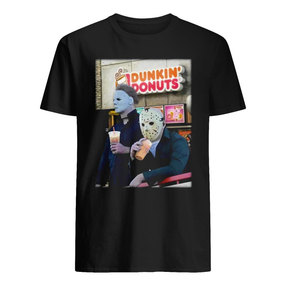 Official Michael Myers and Jason Voorhees drink Dunkin' Donuts shirt