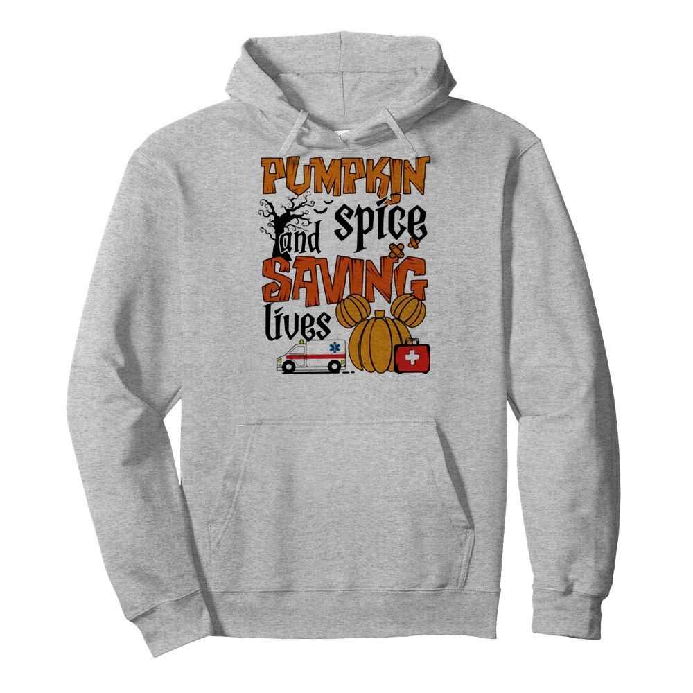 Official Pumpkin spice and saving lives Halloween Hoodie