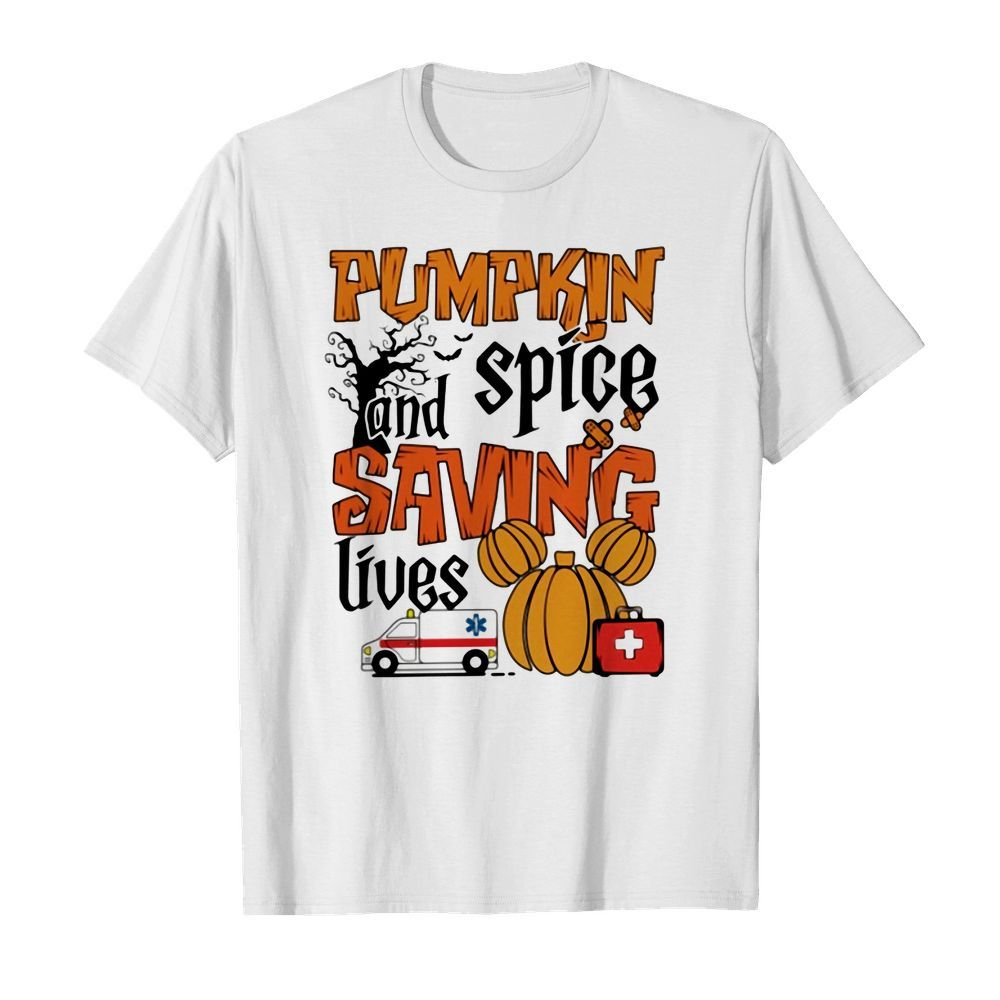Official Pumpkin spice and saving lives Halloween shirt