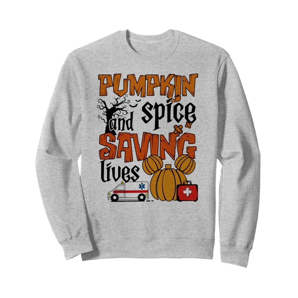 Official Pumpkin spice and saving lives Halloween Sweater