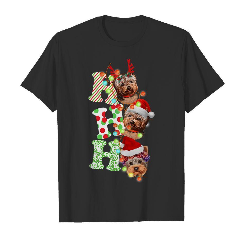 Official Santa Ho Ho Ho Yorkie Dog Christmas Yorkie Guys Shirt