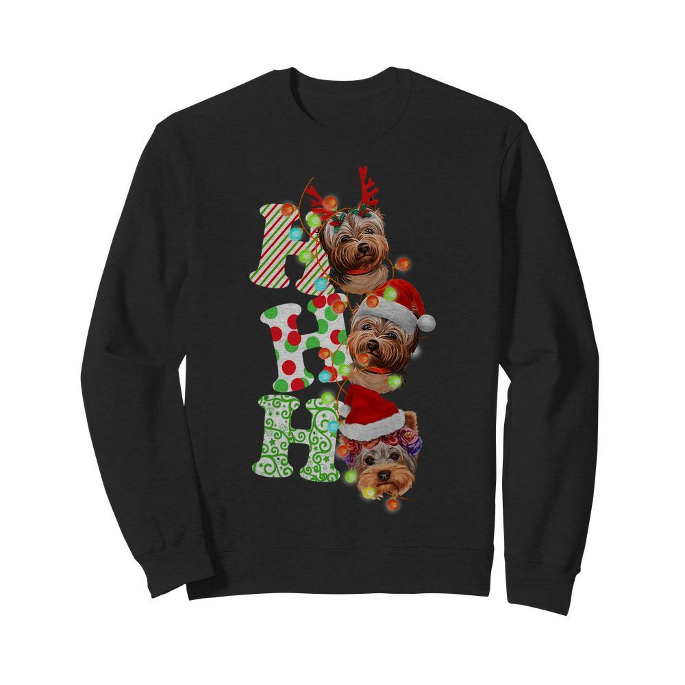 Official Santa Ho Ho Ho Yorkie Dog Christmas Yorkie Sweater