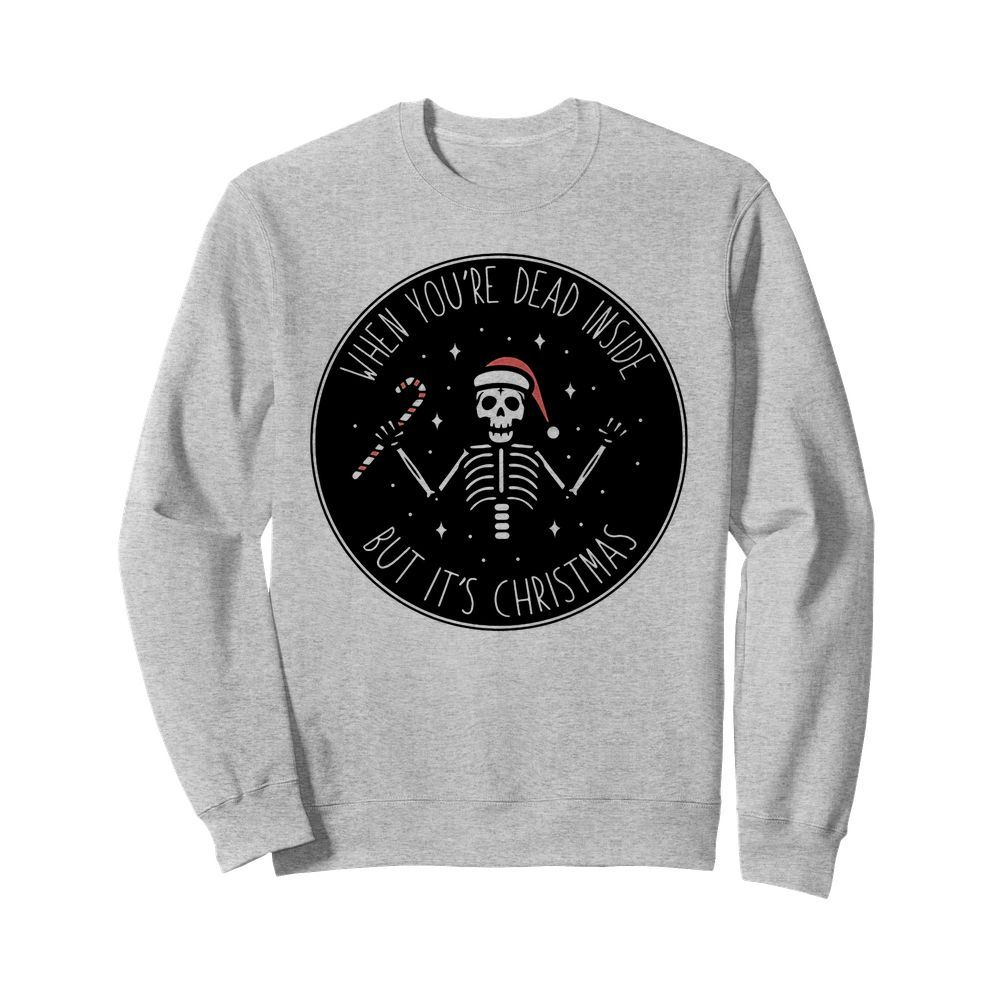 Official Skeleton Santa Hat When you're dead inside but It's Christmas Sweater