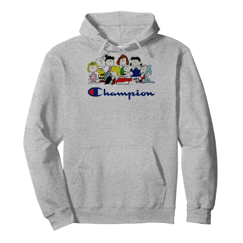 Official Snoopy Charlie Brown and friends Peanuts champion Hoodie