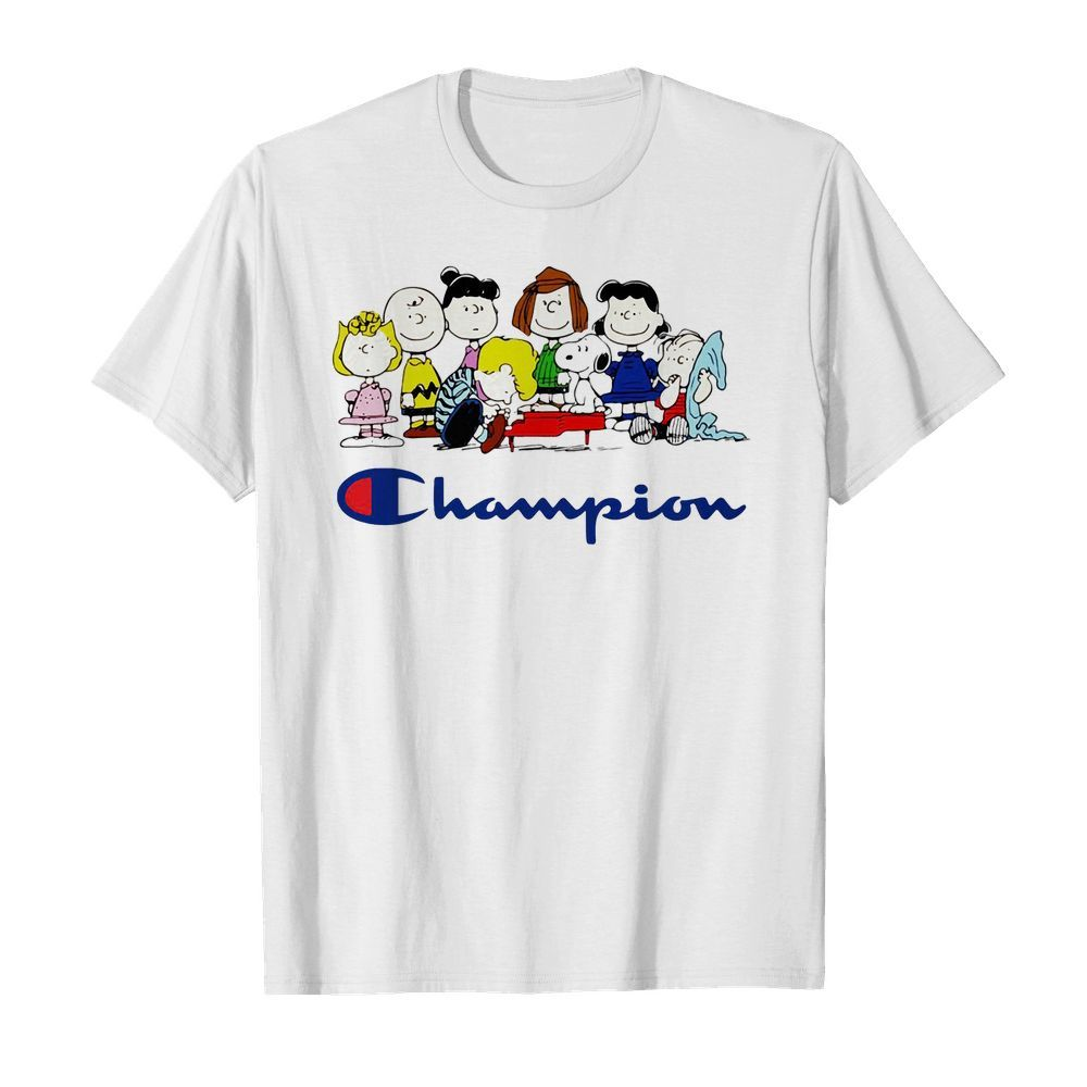 Official Snoopy Charlie Brown and friends Peanuts champion shirt