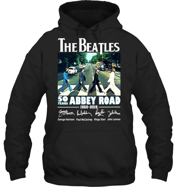 Official The Beatles 50 Years Abbey Road 1969 2019 Signature Hoodie