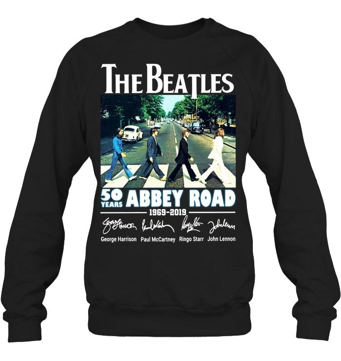 Official The Beatles 50 Years Abbey Road 1969 2019 Signature Sweater