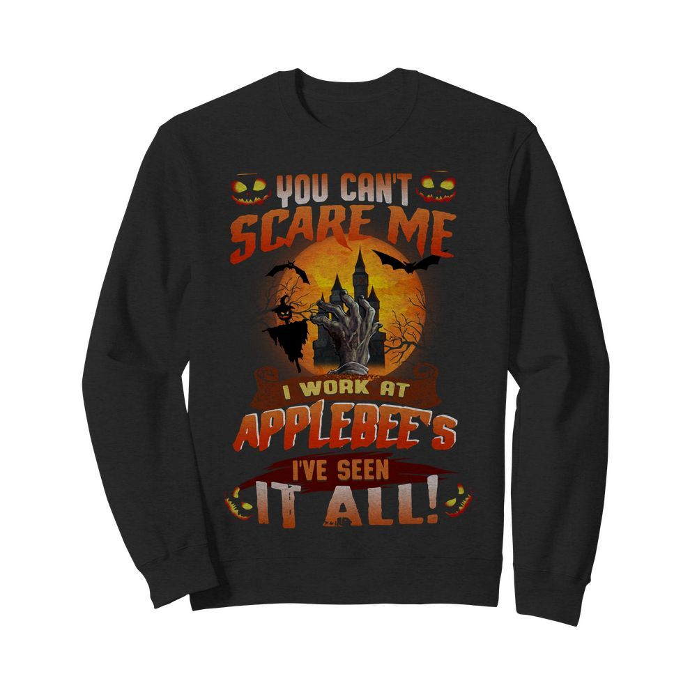 Official You can't scare me I work at Applebee's I've seen it all Halloween Sweater