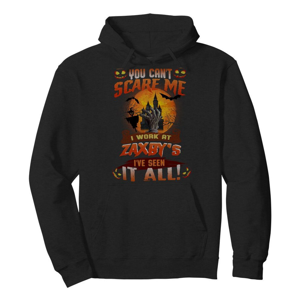 Official You can't scare me I work at Zaxby's I've seen it all Halloween Hoodie